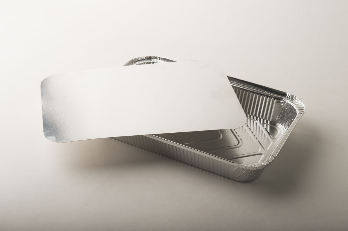 Vassoi alluminio con coperchio