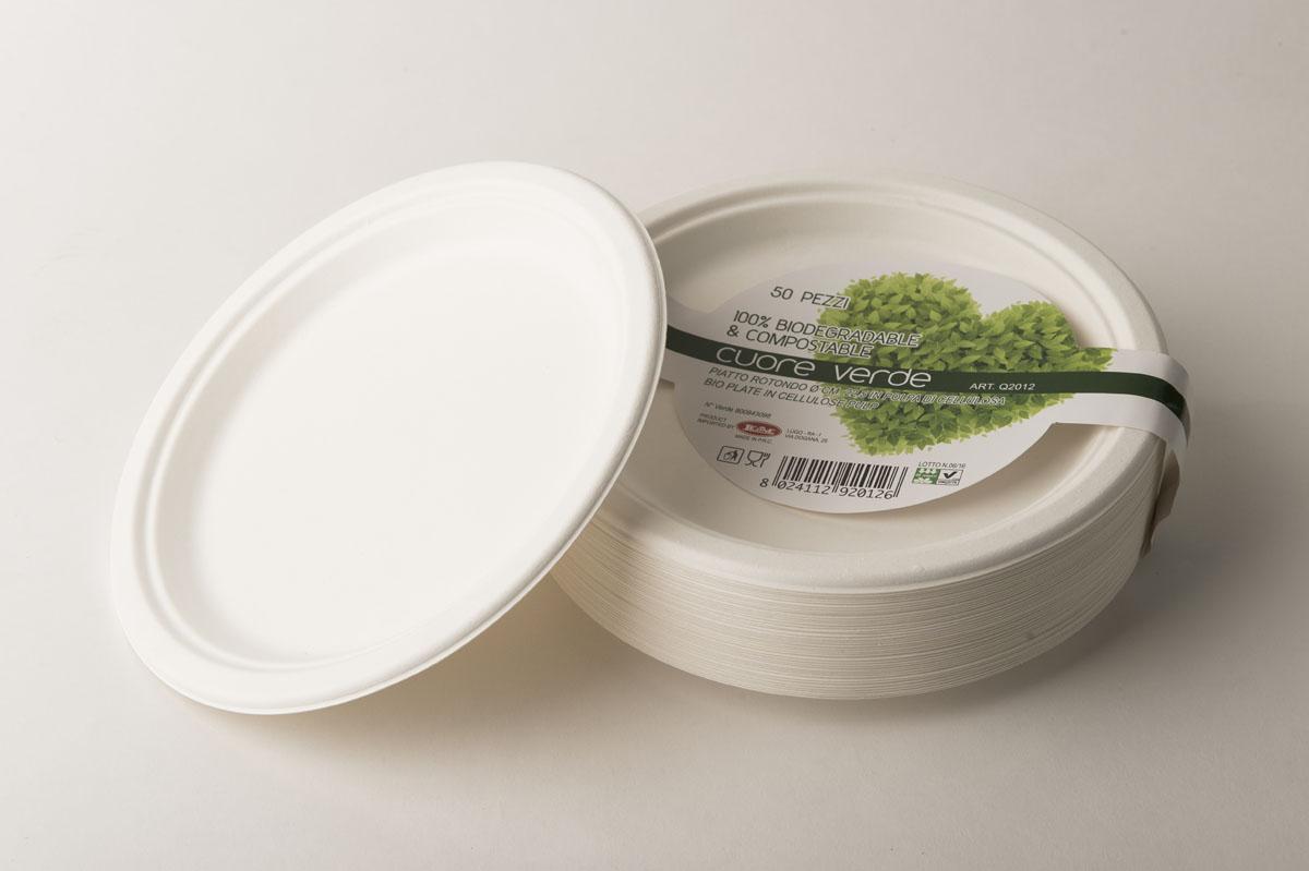 Piatti piani in polpa di cellulosa