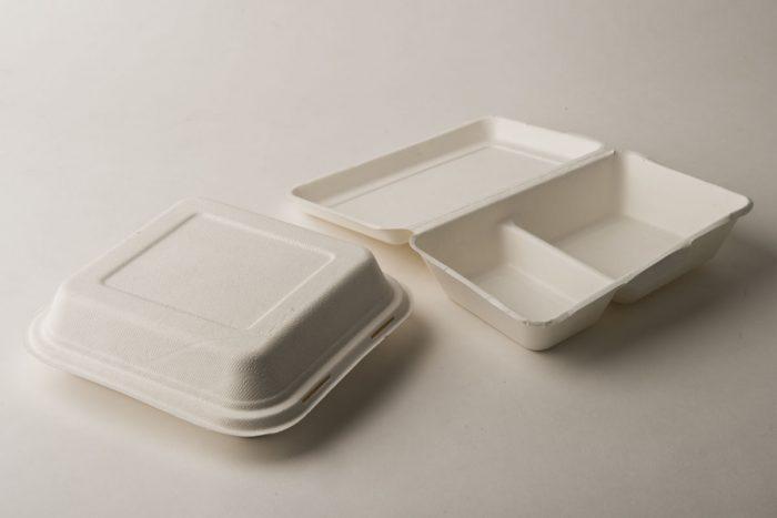 contenitore alimentare a 2 comparti