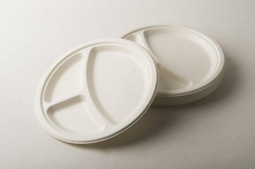 piatti polpa cellulosa 3 scomparti